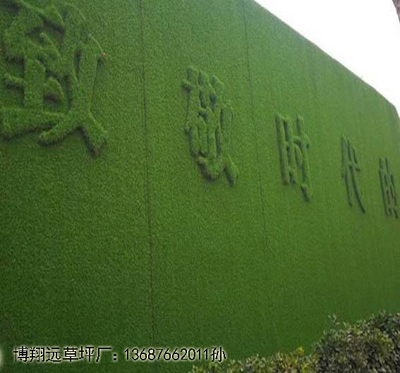 张家港a房地产假草皮墙面建设
